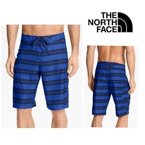 North Face Melvich Stripe Swim Board Short Blue
